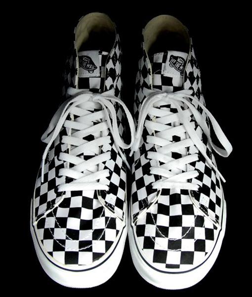 vans sk8 hi deconstruct checkerboard